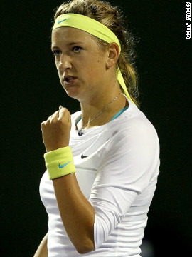 Azarenka cemented her number one status by winning 14 straight matches after the Australian Open, collecting two more trophies.