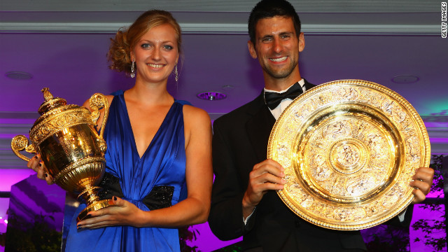 Petra Kvitova of the Czech Republic and Novak Djokovic of Serbia will be hoping to defend their Wimbledon titles in July -- earning a 4.5% increase in prize money if they do. Singles champions will now receive £1.15 millon ($1.85 million). <br/><br/>