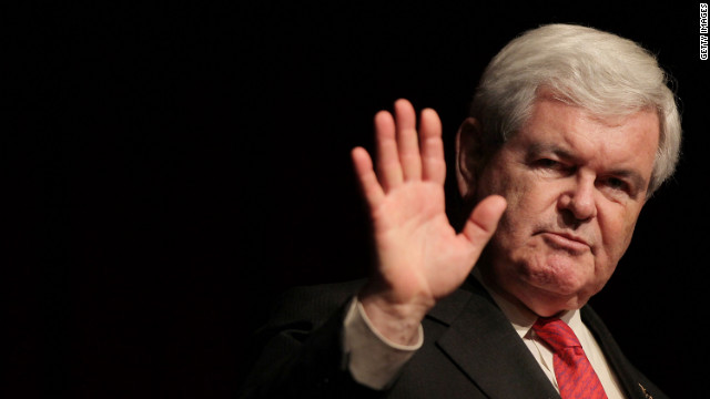 Newt Gingrich speaks at the 2012 New York Republican State Dinner on April 19.
