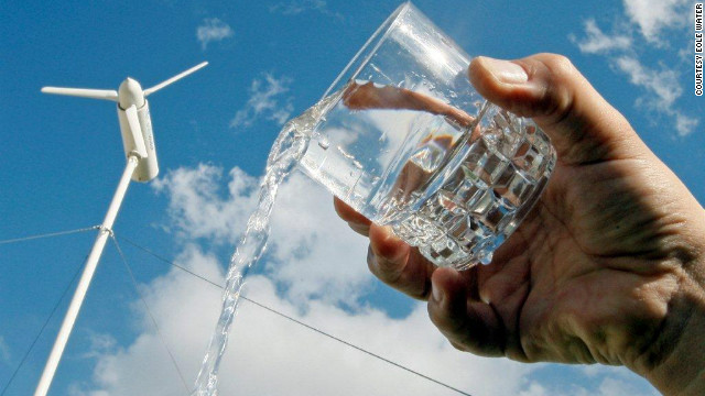 The turbine can produce up to 1,000 liters of drinking water every day, according to Eole Water.