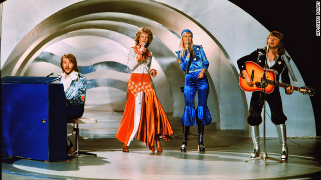 The Swedish pop group ABBA performs the hit &quot;Waterloo&quot; at Eurovision 1974, held in Brighton in the UK. The group's victory inspired a long-lasting Swedish love affair with the competition -- and the annual &quot;Melodifestivalen&quot; national song contest through which the Swedish Eurovision entry is chosen.