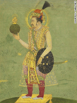 This mid 17th century portrait of the Emperor Jahangir, from Mughal India, is one of a series of items from the Islamic and Indian worlds that were sold at Christie's to benefit the University of Oxford.