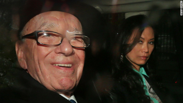Rupert Murdoch leaves The Royal Courts of Justice with his wife Wendi Deng Murdoch after giving evidence to The leveson Inquiry on April 25 in London, England.