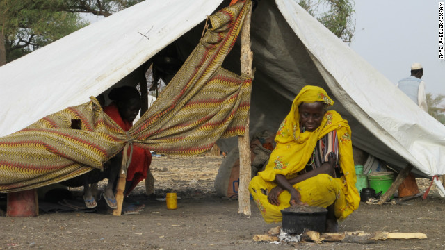 Thousands of people fleeing the bitter conflict in the border areas of Sudan and South Sudan have found a temporary home in the Jamam refugee camp.