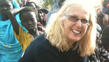 Oxfam\'s Pauline Ballman works in the Jamam Refugee Camp in South Sudan