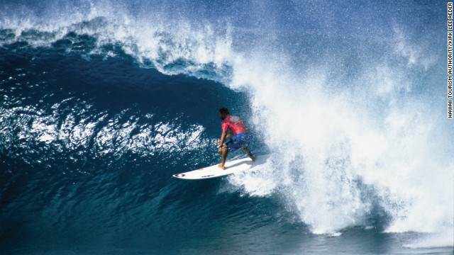 Oahu's North Shore lures world-class surfers.