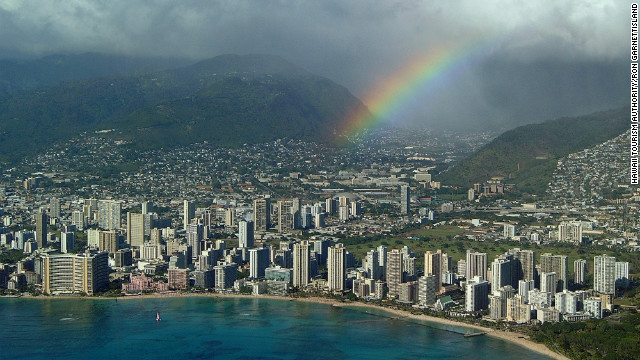 Oahu offers some simple, inexpensive pleasures: rainbows and shave ice are two.