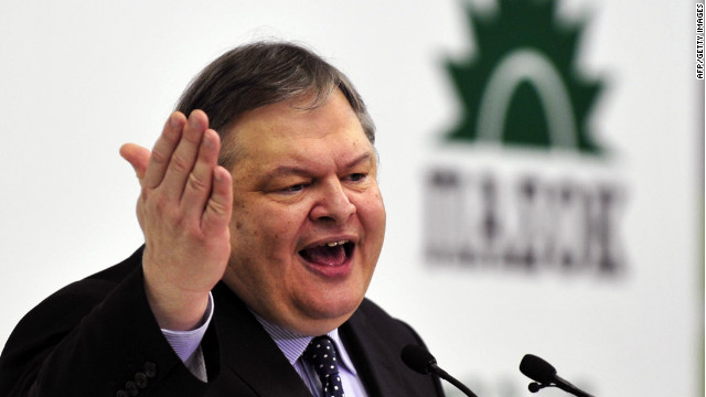 Socialist PASOK leader Evangelos Venizelos was the third Greek politician since Sunday tasked with forming a new government.