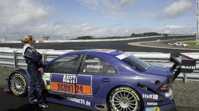 After spells in Formula Renault and Formula 3000, she landed in DTM (German Touring Car) racing with Mercedes Benz in 2006. She finished her first race in the top 10.