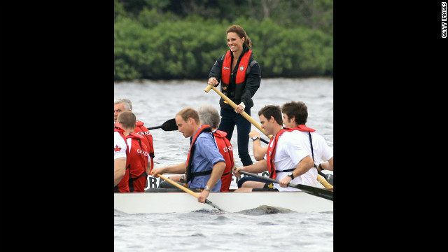 William and Catherine made a 12-day North American tour over the summer. In Canada, they crewed dragon boats on Dalvay Lake on Prince Edward Island.