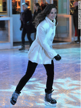 Pippa Middleton ice skates during an event November 21 in London.