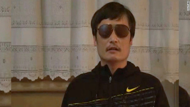 Human rights activist Chen Guangcheng appears on YouTube after slipping away from house arrest.