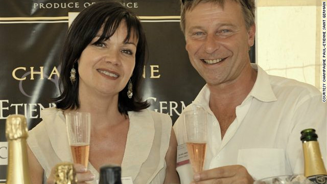 Agnes and Jean-Michel Lagneau, of Champagne Paul-Etienne Saint Germain. Jean-Michel wants to see support for those who take risks to start a business.