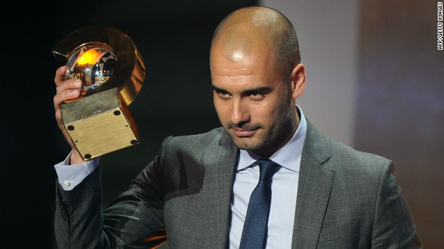 Guardiola won the FIFA Men's Football Coach of the Year award in January 2012. &quot;I can't promise you silverware, but I can say that we'll keep on battling to the end and you'll be proud of us,&quot; he said after becoming coach four years ago.