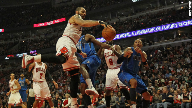 One day we could see players such as those in this recent Chicago Bulls-Dallas Mavericks game wearing ads on their jerseys.