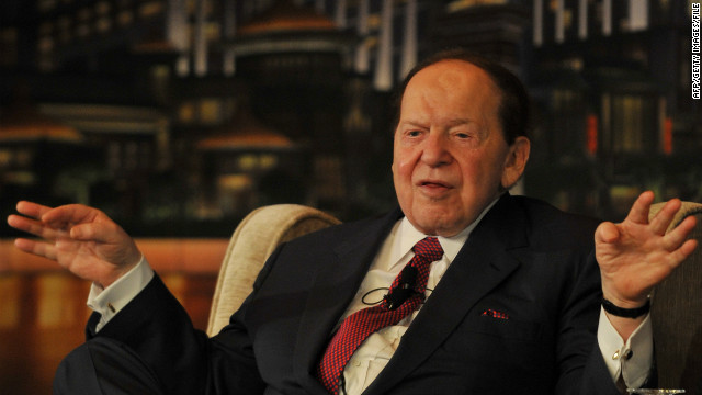 Along with his wife, billionaire Sheldon Adelson gave $20 million to a super PAC that supported Newt Gingrich.