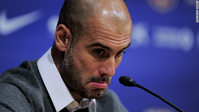 Josep Guardiola gave an emotional press conference as he confirrmed widespread speculation that he will end his four-year reign as Barcelona coach.