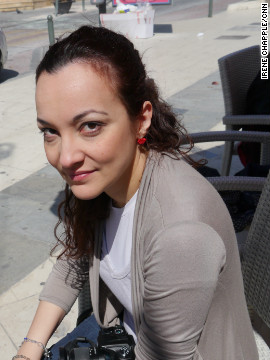 "Pepi Spiliotopoulou, owner and editor of Filodimos newspaper and Radio Egio, photographed on April 1, 2012. ""Angeliki was sacrificed for a good future,"" she says. ""But the better future never came."""