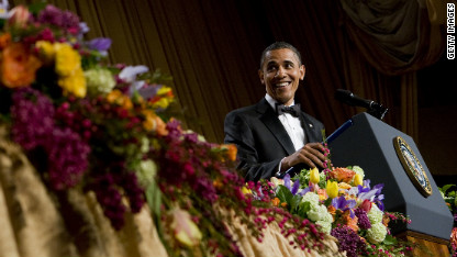 Obama dishes it out at annual dinner