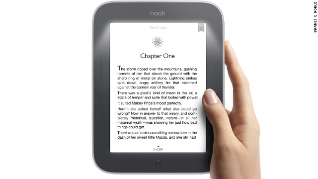 The Nook Simple Touch with GlowLight, from Barnes & Noble, has gotten good reviews since its release.