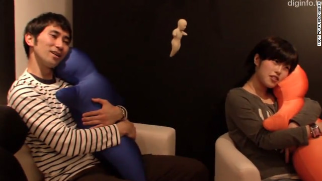 Meet the huggable, semi-robotic (and semi-creepy) pillow phone