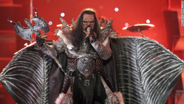 "Monster masks, flaming axes, rotting flesh -- Finland's 2006 entry had it all. The metal band Lordi smashed all previous voting records in becoming the first ever rock band to win Eurovision with their song ""Hard Rock Hallelujah."""
