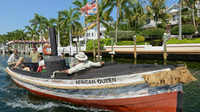"The ""African Queen"" is a 100-year-old steam boat famed for its role in the 1951 movie of the same name."