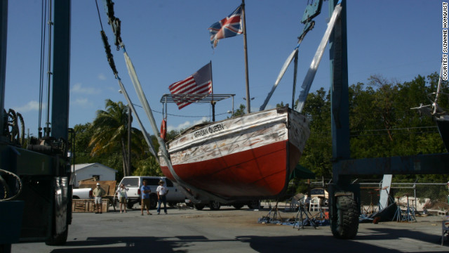The boat fell into a state of disrepair after the death of its previous owner in 2001.