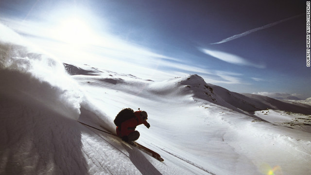 Riksgrnsen is a popular summer ski resort situated 250 kilometers north of the Arctic Circle. In June, not only can you ski in the midnight sun, but it's sometimes warm enough to wear just a t-shirt and shorts.