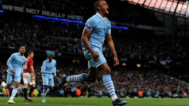 Vincent Kompany scored the goal that sent Manchester City top of the Premier League