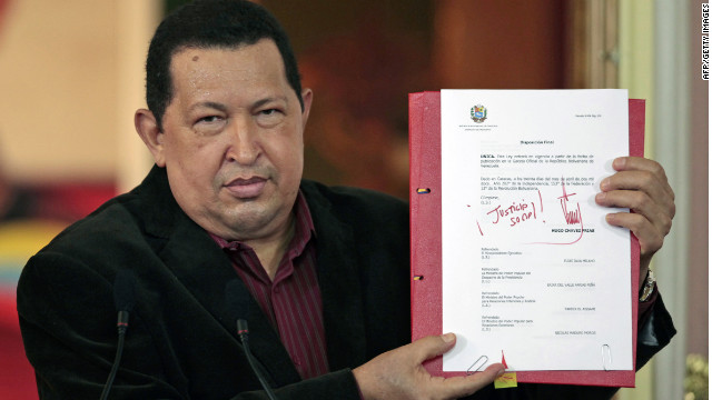 Venezuelan President Hugo Chavez says he is in the