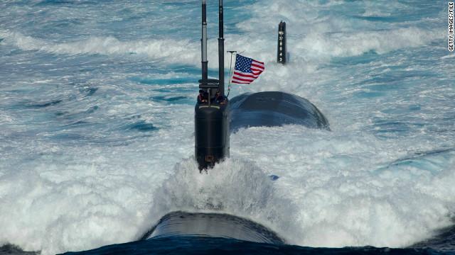 Siete heridos por incendio en un submarino nuclear de EE.UU.