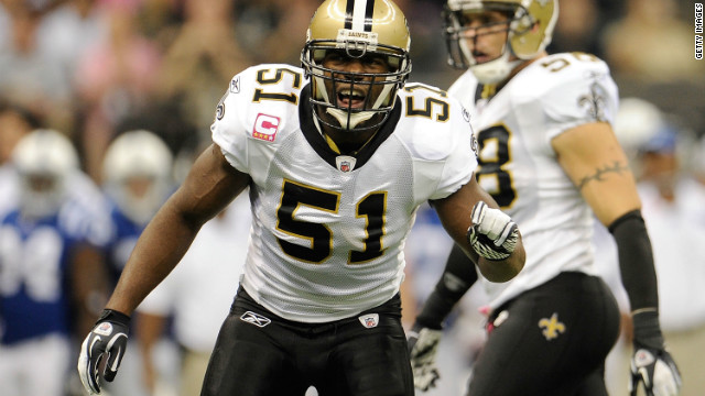 New Orleans Saints linebacker Jonathan Vilma is one of four players suspended for their roles in the 