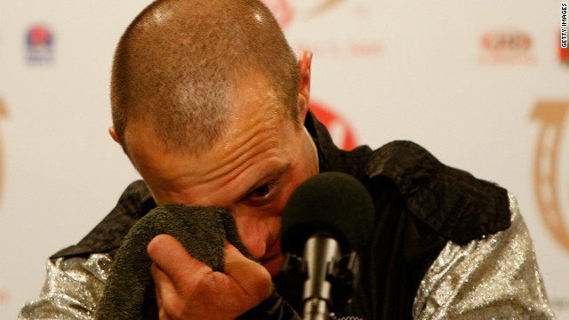 Borel struggled to hold back tears at a press conference after winning the 2009 Kentucky Derby on Mine That Bird in a massive upset result, having come from a long way behind.<br/><br/>