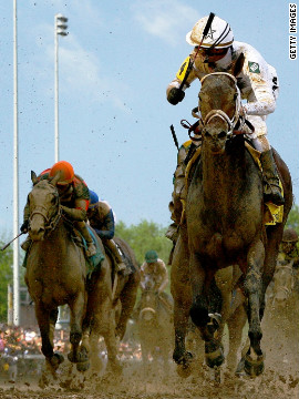 "Borel also crossed the finish line first on Super Saver in 2010. The sight of him hugging the rail is so familiar that fans know him as ""Calvin Bo-Rail"" -- while Kentucky Derby race caller Mark Johnson has nicknamed him ""The Paint Stripper.""<br/><br/>"