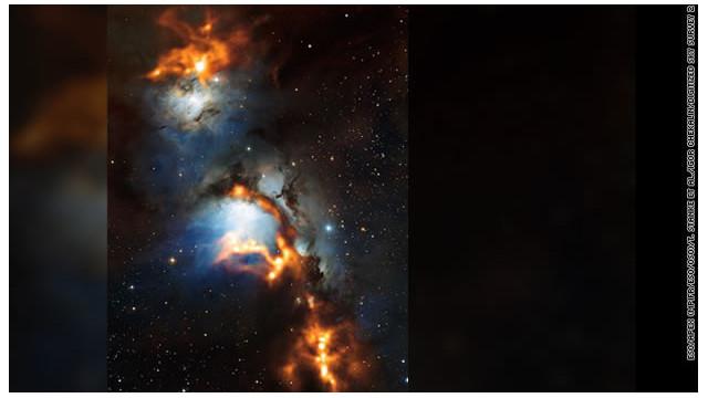 Una nube de polvo cósmico muestra el proceso de formación de las estrellas