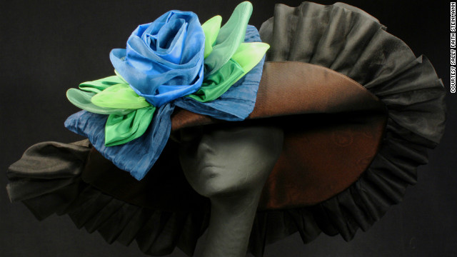You may not be able to spot every single hat at the Derby, but four milliners shared their custom designs with us. Sally Faith Steinmann of<a href='http://www.maggiemae.com/' target='_blank'> Maggie Mae Designs</a> created this hat in honor of Arson Squad, a retired race horse, who belongs to the <a href='http://www.oldfriendsequine.org/' target='_blank'>Old Friends of Kentucky</a>, a facility for retired thoroughbreds. The hat was auctioned to raise money and awareness for the foundation. Steinmann's love of horses inspires her designs.
