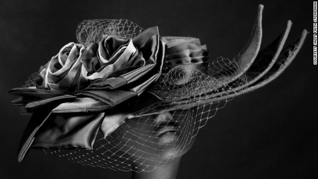 "Vintage netting, featured on designs like Steinmann's ""Marguerite"" hat, is still a favorite among the Derby crowd, as is her use of pleated satin."