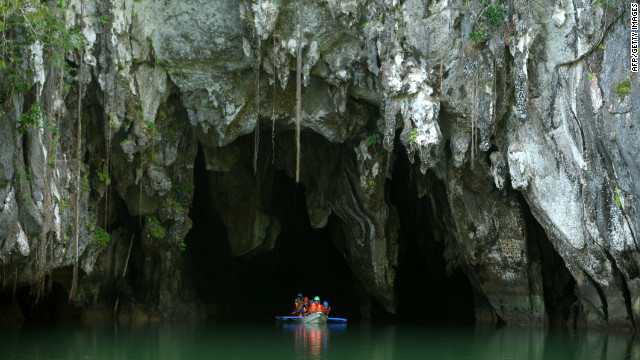 The underground river on the island of Palawan was recently named one of the new 'seven wonders of nature'