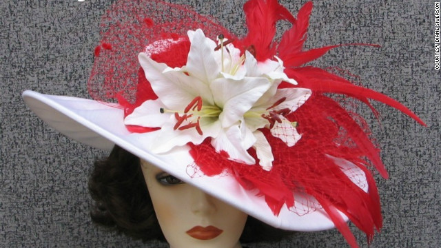 Siverson's special wire design within the brim of each of her hats allows for them to be easily reshaped once customers receive them. This &quot;Gentle Breeze&quot; hat showcases her characteristic &quot;sexy swoop.&quot;