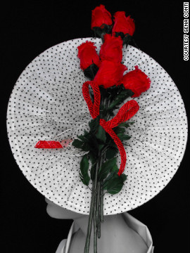 "Gena Conti, of <a href='http://www.genaconti.com/index.htm' target='_blank'>Gena Conti Millinery</a>, is proud that her ""Spectator Roses"" hat is housed in the Kentucky Derby Museum at Churchill Downs. It won the museum award for ""Most Representative of the Kentucky Derby."""