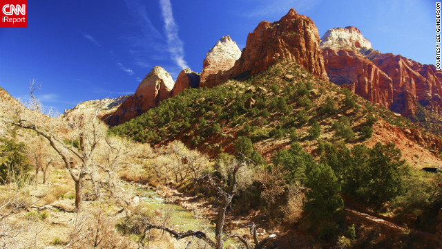 Lee Gunderson hiked Zion Canyon with his wife and shared this awe-inspiring photo.