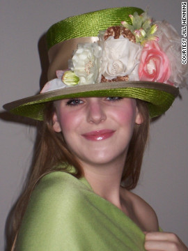 Every milliner is inspired by something else in their life, and for Henning, it's roses. She grows more than 100 rose bushes in her backyard and garden.
