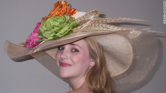 The big, floppy Southern-style hat, with a round crown, is a perennial favorite for Derby-goers young and old.