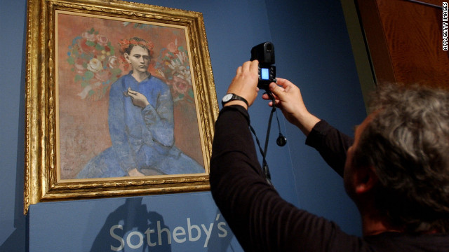 "In 2004, Pablo Picasso's ""Garcon a la Pipe"" sold for more than $104 million at Sotheby's in New York."