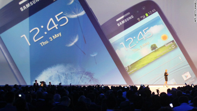Samsung unveiled its latest flagship smartphone, the Galaxy S III, at Earls Court in London on Thursday. 