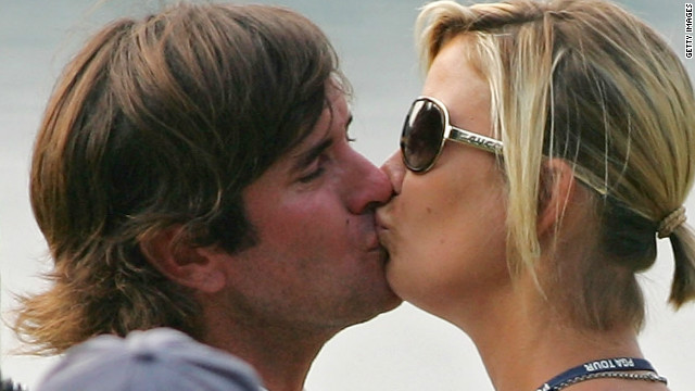 Masters champ Bubba Watson is taking time out to spend with wife Angie and two-month-old son Caleb.