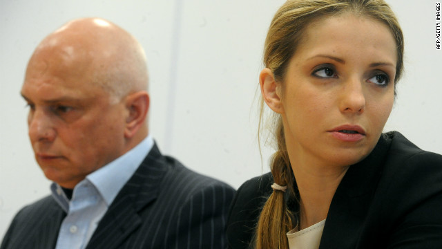 Her husband Oleksander (left) and their daughter Eugenia have been campaigning for better treatment of the Orange Revolution leader, who was found guilty of abusing her power when in office.
