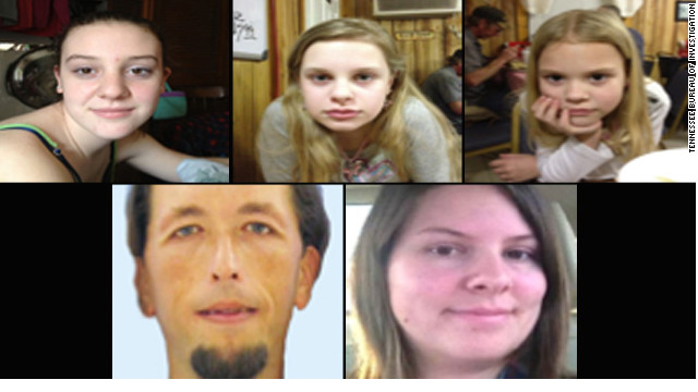 Adam Mayes is suspected in the disappearance of Adrienne, Alexandra and Kyliyah Bain (top), and their mother, Jo Ann.