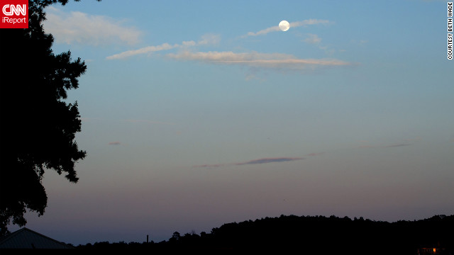 "Beth Wade of Lake Wylie, South Carolina, took ""test"" photos of the moon Friday and early Saturday."